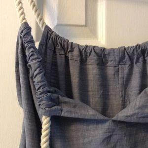 Anthropologie Study Chambray Rope Romper S/M/L